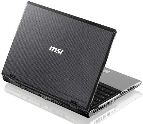 MSI CR620 Classic Series Notebook - Back