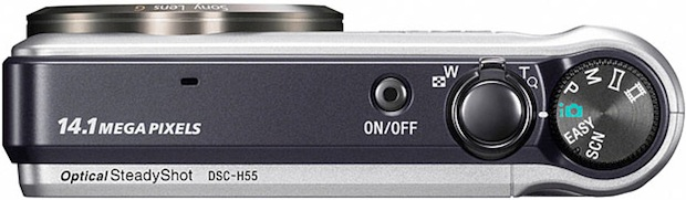 Sony DSC-H55 Cyber-shot Digital Camera - Top