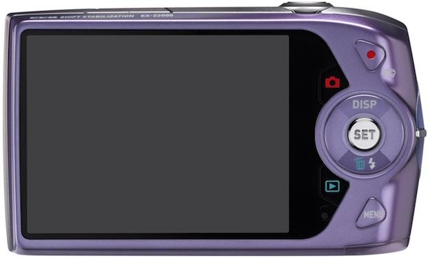 Casio EX-Z2000 Exilim Digital Camera - Back