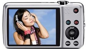 Casio EX-Z550 Exilim Digital Camera - Back