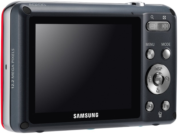 Samsung AQ100 Waterproof Digital Camera - Back