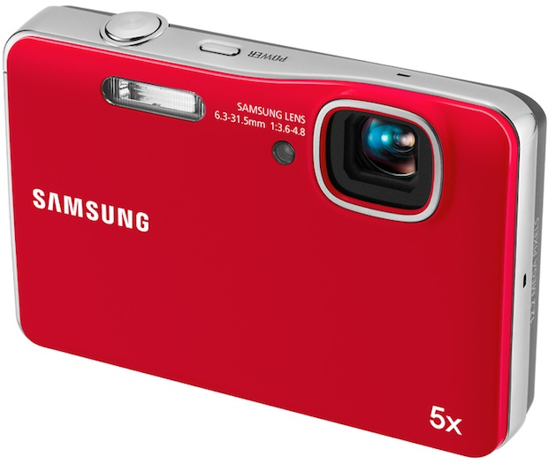 Samsung AQ100 Waterproof Digital Camera - Red
