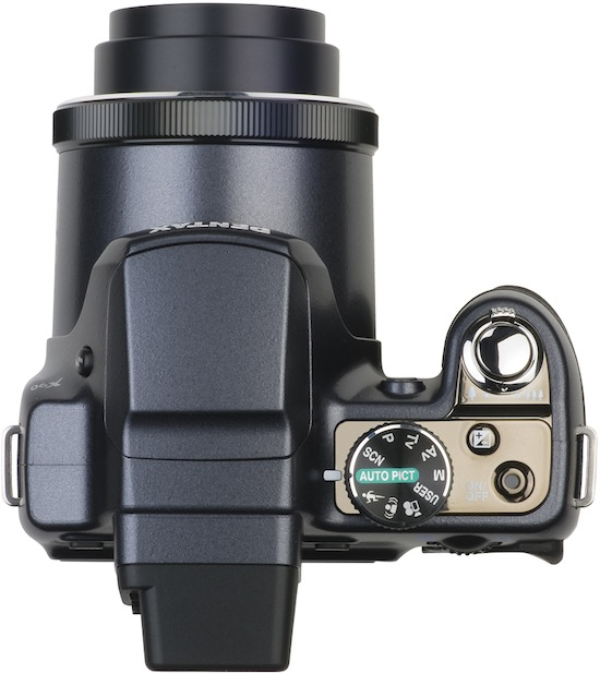 Pentax X90 Megazoom Digital Camera - top