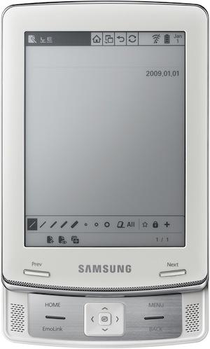 Samsung E6 eReader - front