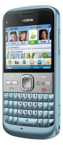 Nokia E5 Symbian Smartphone - Sky Blue