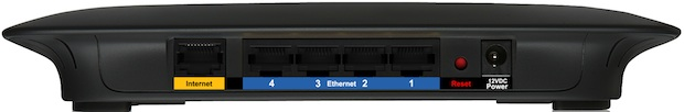 Linksys E1000 Wireless-N Router - Back
