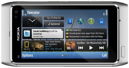 Nokia N8 Smartphone - front