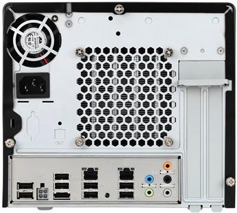 Shuttle J3 5800G Desktop PC - Back