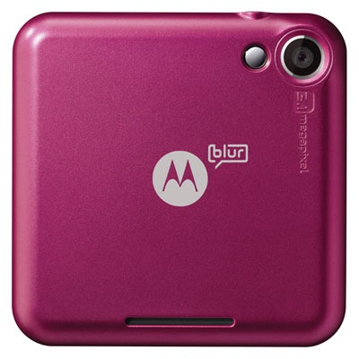 Motorola FLIPOUT with MOTOBLUR Smartphone - Back Raspberry