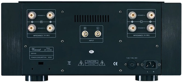 Vincent Audio SP-331MK Hybrid Vacuum Tube Power Amplifier - Back