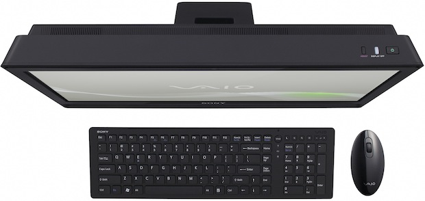 Sony VAIO J Touch All-In-One Desktop PC - Top View