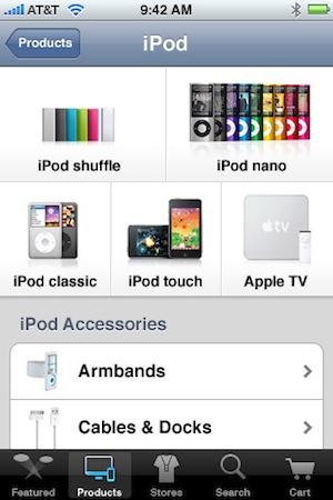 Apple Store App iPod