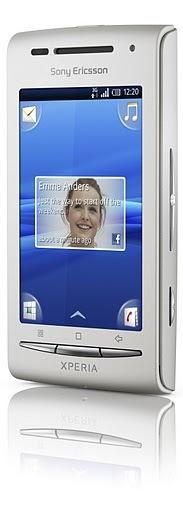 Sony Ericsson Xperia X8 Smartphone - Silver Front