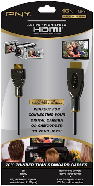 PNY Active High Speed HDMI to Mini Cables