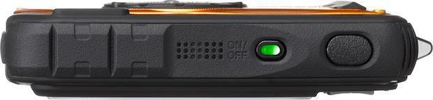 PENTAX Optio W90 Orange Digital Camera - Top