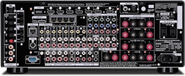 Sony STR-DA5600ES STR-DA5600ES 7.1 Channel Network Multi-room AV Receiver - Back
