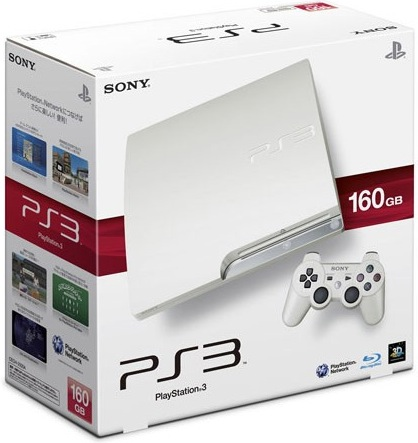 Sony PS3 White 160GB Packaging