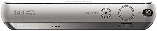 Sony DSC-T99 Cyber-shot Digital Camera - Top