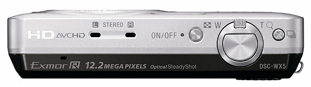 Sony DSC-WX5 Cyber-shot Digital Camera - Top
