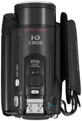 Canon VIXIA HF M32 Dual Flash Memory Camcorder - Top