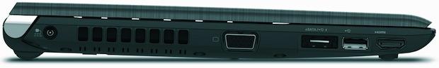 Toshiba Portege R700 Laptop - Left Side