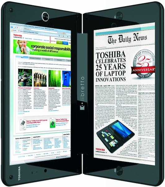 Toshiba libretto W100 Dual Screen Laptop Reader