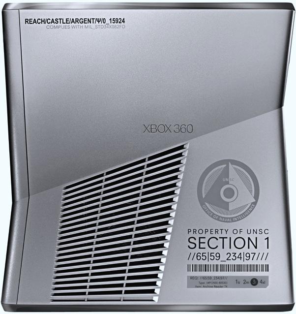 Microsoft Xbox 360 Limited Edition Halo: Reach 250GB Console - Side