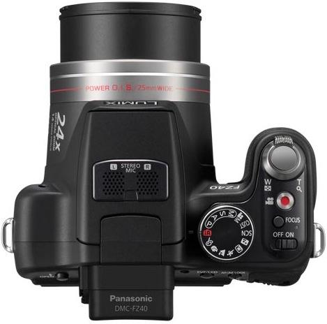 Panasonic DMC-FZ40 Lumix Digital Camera - Top