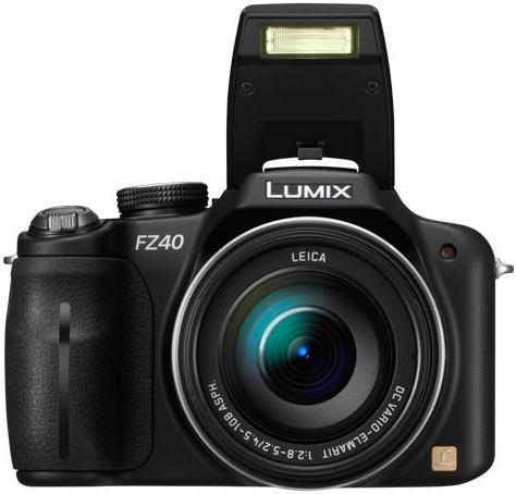 Panasonic DMC-FZ40 Lumix Digital Camera - Flash