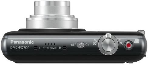 Panasonic DMC-FX700 Lumix Digital Camera - Top