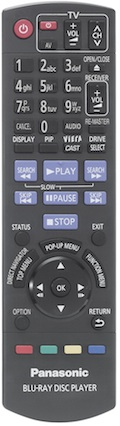 Panasonic DMP-BDT100 Remote Control