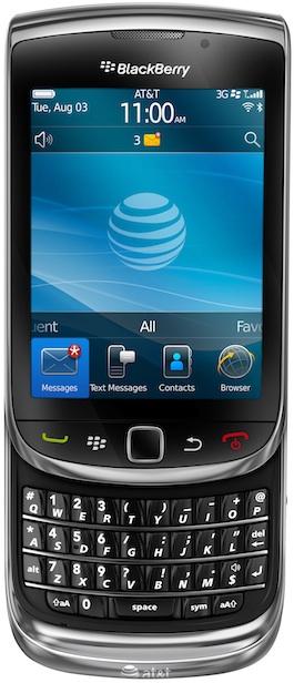 BlackBerry Torch 9800 Smartphone - Open Front