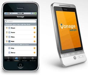 Vonage Mobile Facebook App for Smartphones