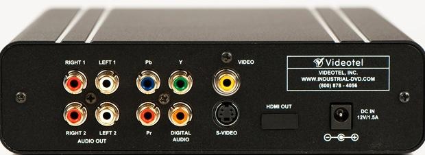 Videotel V2200 Industrial DVD Player - Back