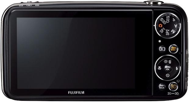 FujiFilm FinePix REAL 3D W3 Digital Camera - Back