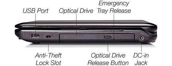 Fujitsu LifeBook AH530 Laptop - Right