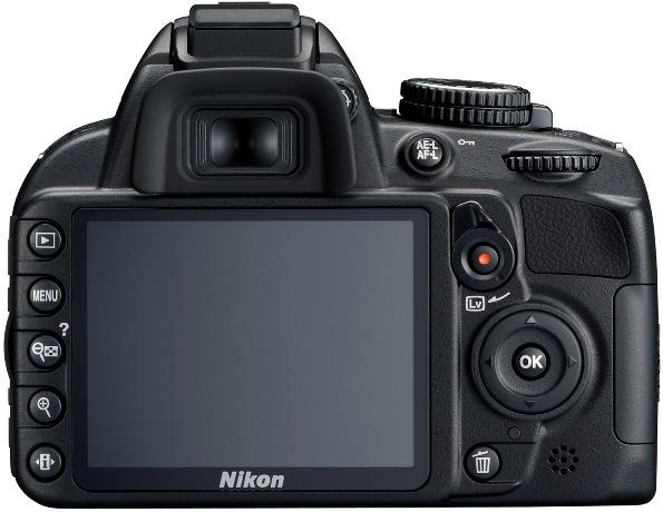 Nikon D3100 Digital SLR Camera - Back