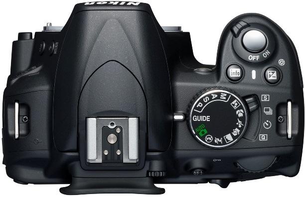 Nikon D3100 Digital SLR Camera - Top
