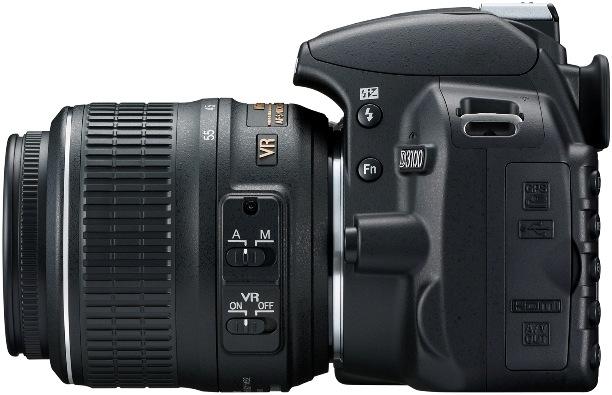Nikon D3100 Digital SLR Camera - Left