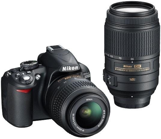 Nikon D3100 Digital SLR Camera and AF-S DX NIKKOR 55-300mm VR lens