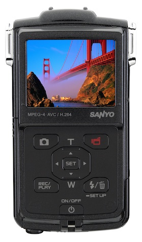 Sanyo VPC-PD2BK Dual Camera - Back