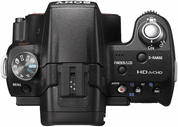 Sony SLT-A33 Alpha Digital SLR Camera - Top