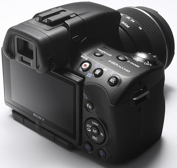 Sony SLT-A33 Alpha Digital SLR Camera - Back