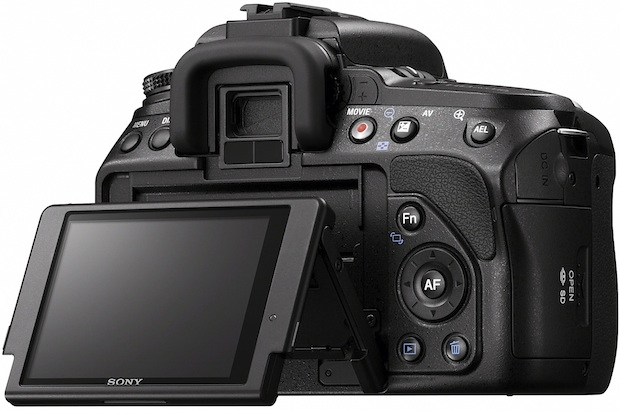 Sony DSLR-A560 Alpha Digital Camera - Back Tilt LCD