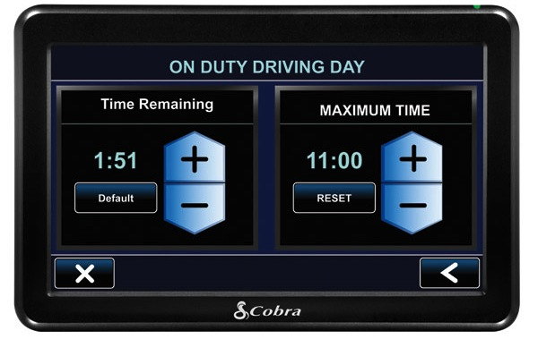 Cobra 7750 Platinum 7-inch Navigation System for Professional Drivers - Log