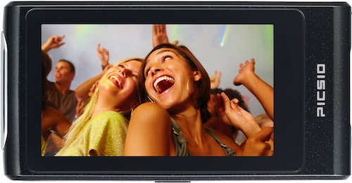JVC Piscio GC-FM2 Pocket Video Camera 3-inch LCD Screen