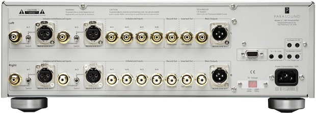 Parasound Halo JC 2 BP Stereo Preamplifier - Back
