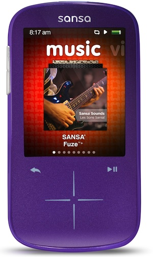 SanDisk Sansa Fuze+ Portable MP3 Player - Purple