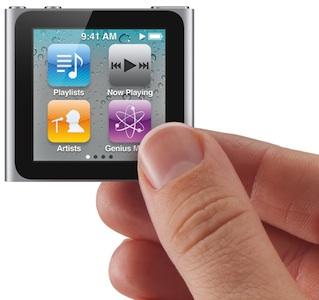 Apple iPod nano (2010) MP3 Player in hand
