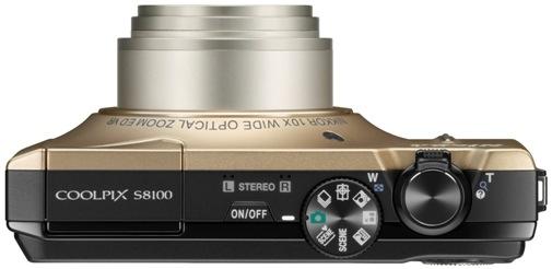 Nikon CoolPix S8100 Digital Camera - Top